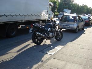 My Suzuki Bandit parked in Bielefeld