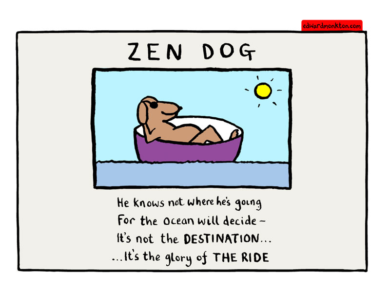 Zen Dog by Edward Monkton